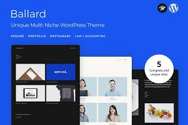 Wordpress Resume Theme Inspiration Ballard Personal CV Wordpress Theme Agency Law Restaurant Free