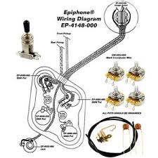 wiring kit for epiphone® les paul complete w diagram cts pots image is loading wiring kit for epiphone les paul complete w