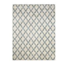 latex backed rugs. Acanthus Patterned Nylon Area Rug With Latex Backing, Medium, Blue And Grey Backed Rugs N