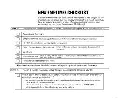 Employee Profile Format New Hire Package Template