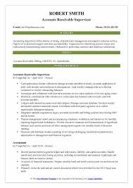 Account Receivable Resume Custom Accounts Receivable Supervisor Resume Samples QwikResume