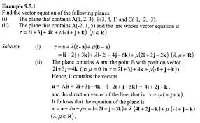 finding equation of plane given vector of point and line