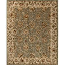 jaipur rugs mythos 10 x 14 hand tufted wool rug in green and ivory rug103018