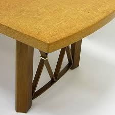 mid 20th century stunning paul frankl cork top dining table by johnson furniture company for