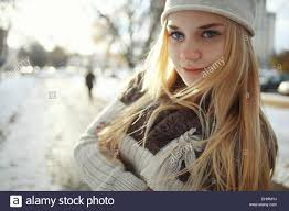 Cute blonde teen model