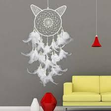 Dream Catcher Christmas Ornament Luminous Stone Christmas Dream Catcher Wind Chimes Cat 35