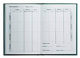 Mileage Book Collins Mrb1 Essentials Mileage Record Book Green