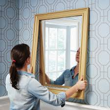 Diy mirror frame ideas Design Hanging Mirror With Diy Mirror Frame The Home Depot Blog How To Make Diy Mirror Frame With Moulding