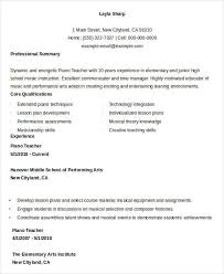 resume example for piano teacher first resume example with no work  experience the balance free teacher