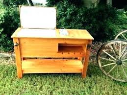 wooden patio cooler box wood outdoor pallet stand 5 best coolers reviews of decorating charming cart