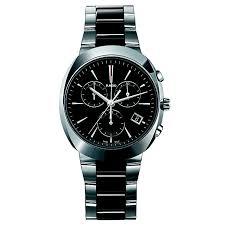 rado men s stainless steel black ceramic bracelet watch ernest rado men s stainless steel black ceramic bracelet watch product number 1296884