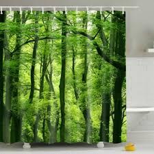 shower curtain shower environmentally friendly. Eyeful Eco-Friendly Green Woods Printing Shower Curtain For Bathroom Environmentally Friendly E