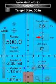 Mildot Master Chart Mil Dot Ballistics Utilities Sports App For Iphone
