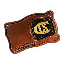 custom personalized leather patches leather tags clothing labels for jeans