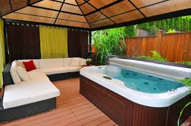 Hot Tub Backyard Ideas Plans Awesome Decorating Design