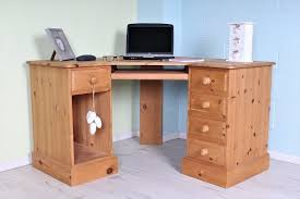 delivery options quality made pine corner desk light colour waxed drawers