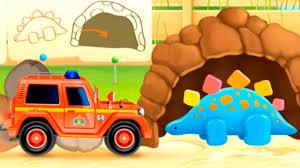 M Petite Voiture De Pompier Et Un Dinosaure Dessin Anim Youtube Dinosaure Dessin Anime Tracteur Et Pelleteuse Pour Bebes Dessin Anime L