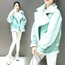 plus size coat new winter woman las coats suede leather jackets faux shearling jacket moto at with fur ho