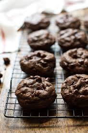 gooey double chocolate chip cookies. Contemporary Gooey Thick And Fudgy Double Chocolate Cookies Inside Gooey Chip O