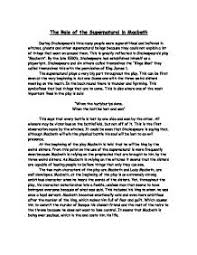 example about macbeth supernatural essay nagar panchayat bhuntar essay on macbeth and the