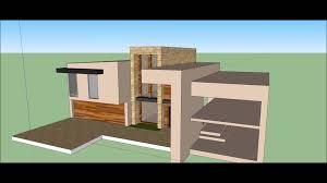 google sketchup modern house design build timelapse