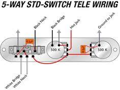 tele wiring diagram tapped a 5 way switch electric guitar telecaster sh wiring 5 way google search