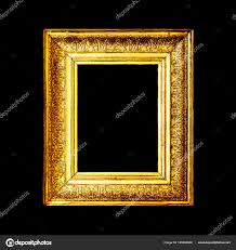 antique gold frame isolated on black background stock image
