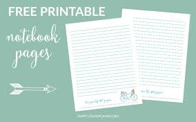 free printable notebook pages avirtuouswoman org