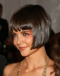 Hairstyles With Blunt Fringe Cute Short Bob Hairstyle With Blunt Bangs 2017