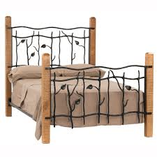 wrought iron and wood furniture. Sassafras Wrought Iron U0026 Wood Bed And Furniture N