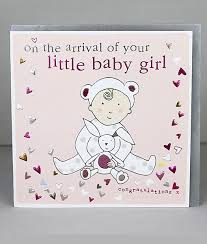 Little Baby Girl Cards Molly Mae New Baby Cards New Baby Girl Cards