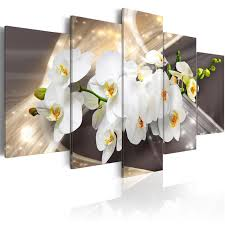 5 pieces hd wall art beautiful white orchid flower abstract exquisite background home decoratives paintings framed on white orchid framed wall art with 5 pieces hd wall art beautiful white orchid flower abstract