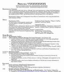 Bioinformatics Resume Bioinformatics Analyst Resume Sample Analyst Resumes