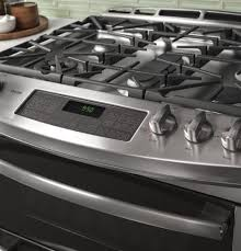 Gas Range With Gas Oven Ge Pgs950sefss 30 Inch Slide In Double Oven Gas Range With