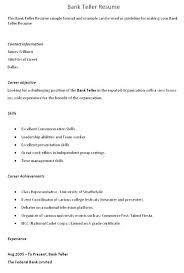 Lead Teller Resume Awesome Sample Head Teller Resume Bank Objective Best Of For Rabotnovreme
