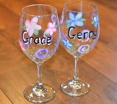 diy painted wine glasses