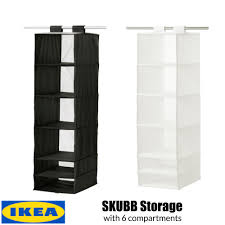 ikea skubb storage with 6 compartments black white