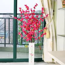 Artificial Window Peach Blossom Artificial Flower Living Room Dining Table Window