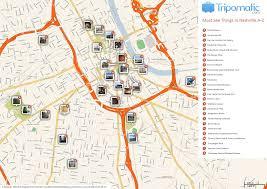 popular  list nashville tourist map