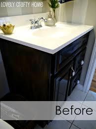 paint wood vanity black ideas