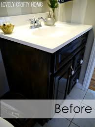 paint wood vanity black ideas