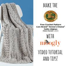 Lion Brand Free Crochet Patterns Custom How To Crochet The Lion Brand Celtic Afghan Lion Brand Notebook