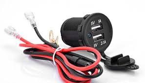 qunqi dual usb charger digital voltmeter 12v power socket chenbo dual 2 usb port power socket 12v 1a 2 1a waterproof for mobile gps car