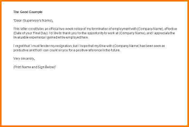 Writing Two Weeks Notice How To Write A 2 Weeks Notice Under Fontanacountryinn Com