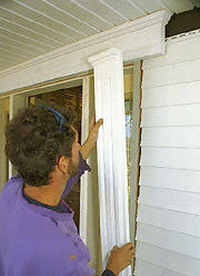 minimize j channel around openings putting trim on the front door