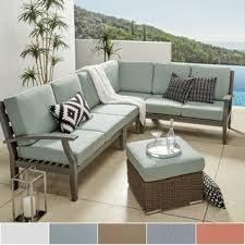 modern outdoor sectional. Yasawa Modern Outdoor Cushioned Wood Sectional - Grey INSPIRE Q Oasis O
