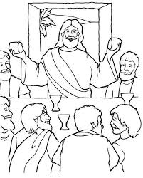 Small Picture Last Supper Jesus in the Last Supper Coloring Page Jesus In The