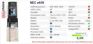 NEC e636 :: GSMchoice.com