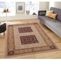 brown nylon 60 x 84 inch rug by status
