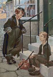 First Meeting Chart Olivers First Meeting With The Artful Dodger Cross Stitch Chart Jessie Willcox Smith